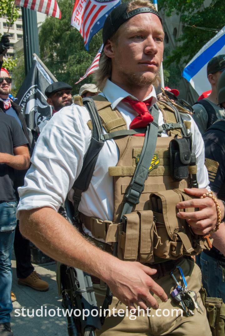 Seattle, Liberty or Death Rally, August 18, 2018, Firearms On Display