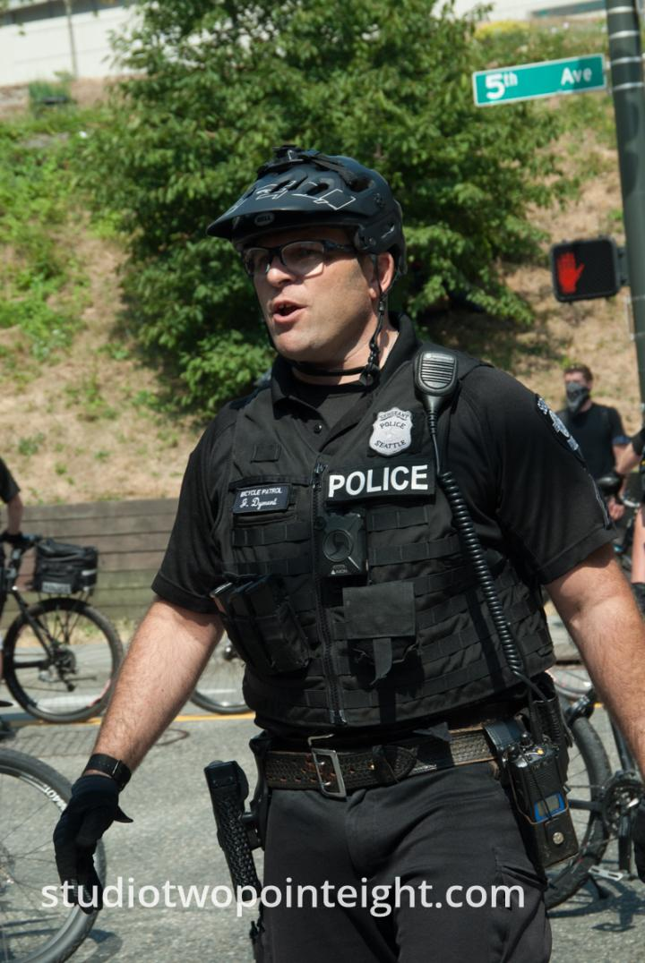 Seattle, Liberty or Death Rally, August 18, 2018, SPD Sergeant James Dyment