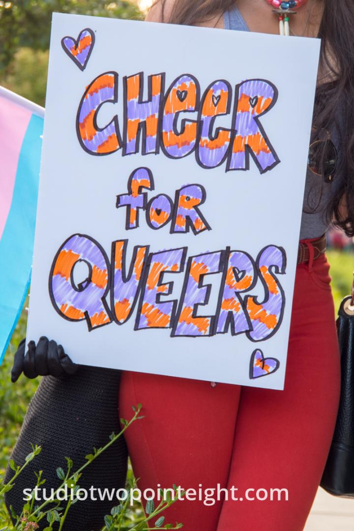 Seattle Trans Pride 2019, Women With Cheers for Queers Poster
