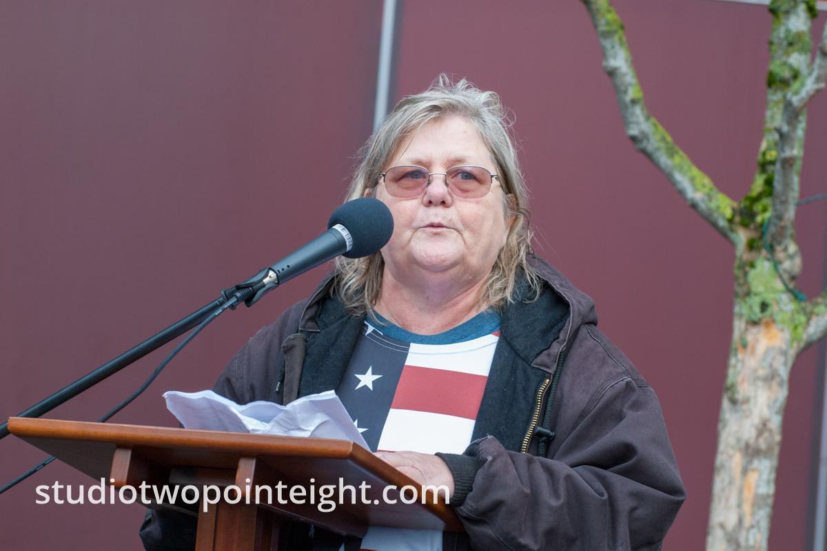 Seattle, Liberty or Death 2 Rally, Speaker Shari Dovale