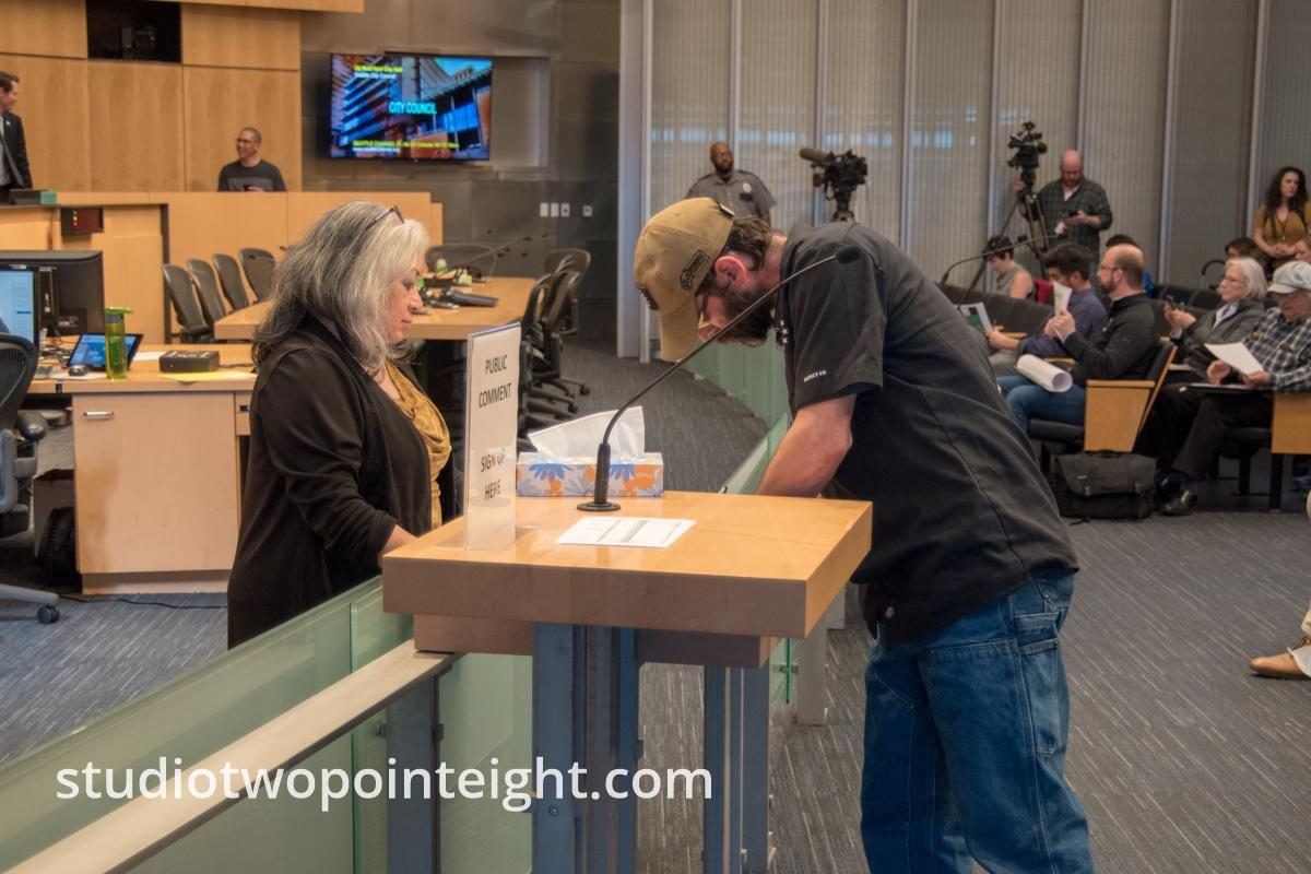 Some Member of the Washington Three Percent Attended The Seattle City Council Hearing on March 18, 2019