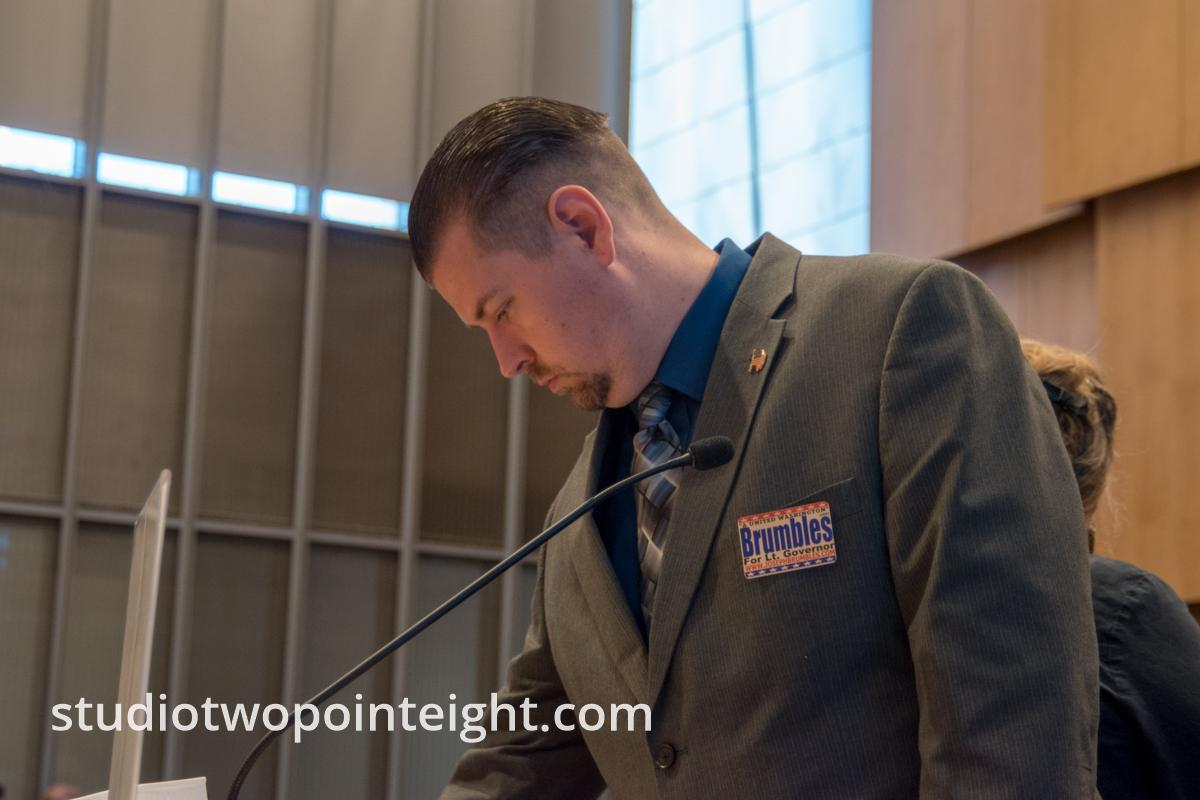 Some Member of the Washington Three Percent Attended The Seattle City Council Hearing on March 18, 2019, Joseph Brumbles