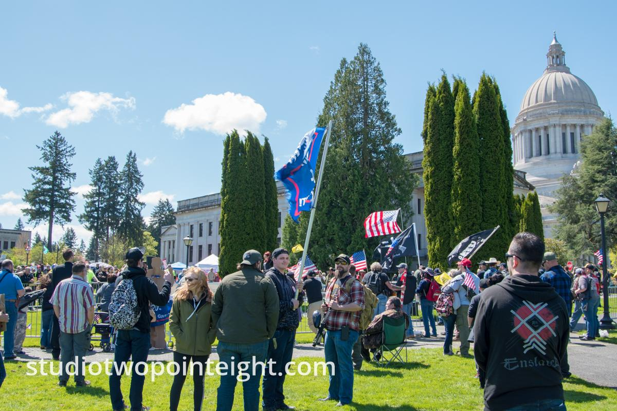 Studio 2.8 Covered The March For Our Rights 2.0, Gun Rights Rally, 2019 April 27, In Olympia, Washington