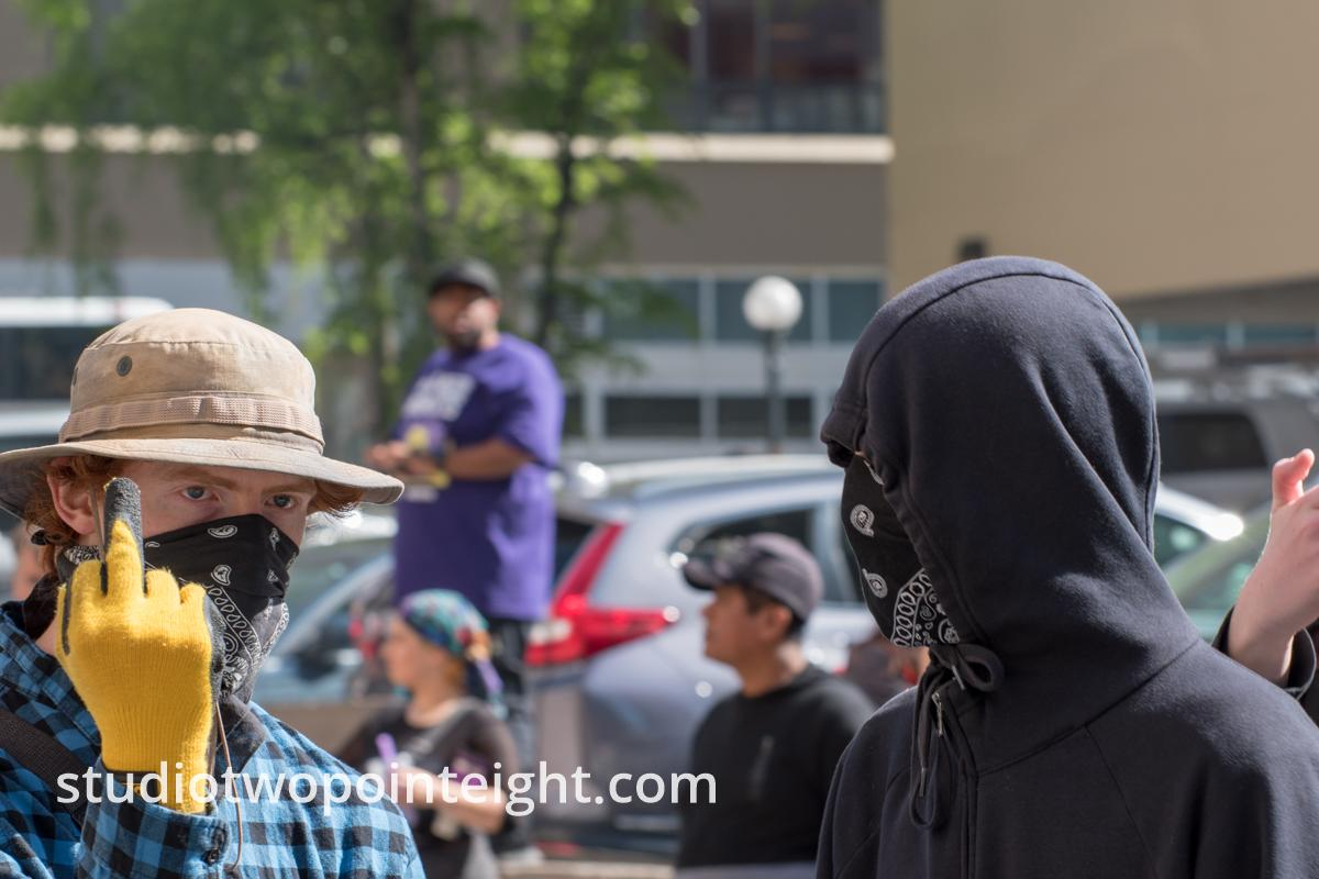 Seattle May 1, 2019 May Day Immigration Rally Marxist Antifa Black Bloc Terrorists