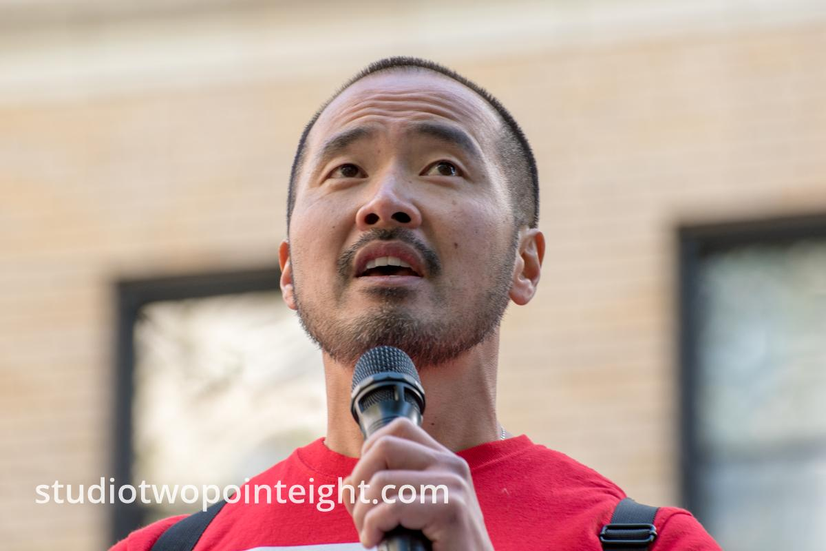 Seattle May 1, 2019 May Day Immigration Rally, Speakers At The Federal Courthouse