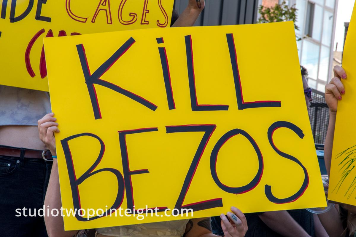 Seattle Trans Pride 2019, One of Several Attendees With Political Posters Held A - Kill Bezos - Poster