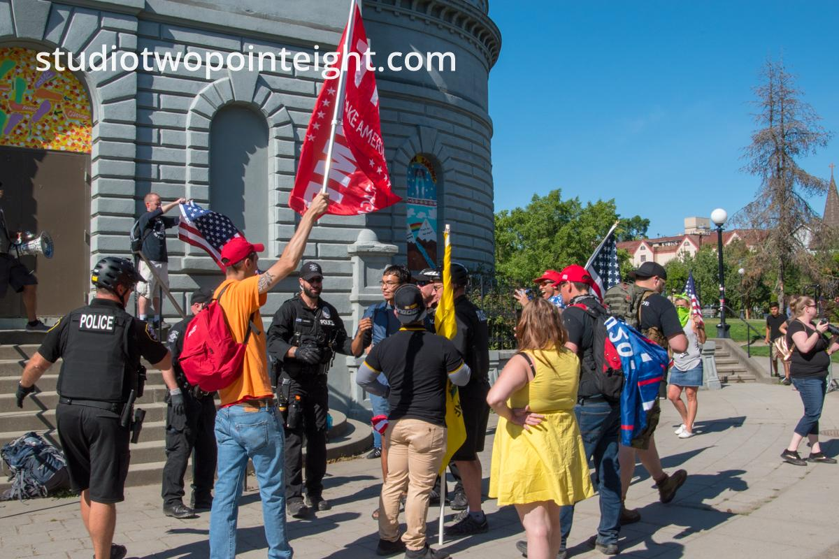 Studio 2.8, July 28, 2019, Seattle Liberty March, Asian Man Arrested by Seattle Police