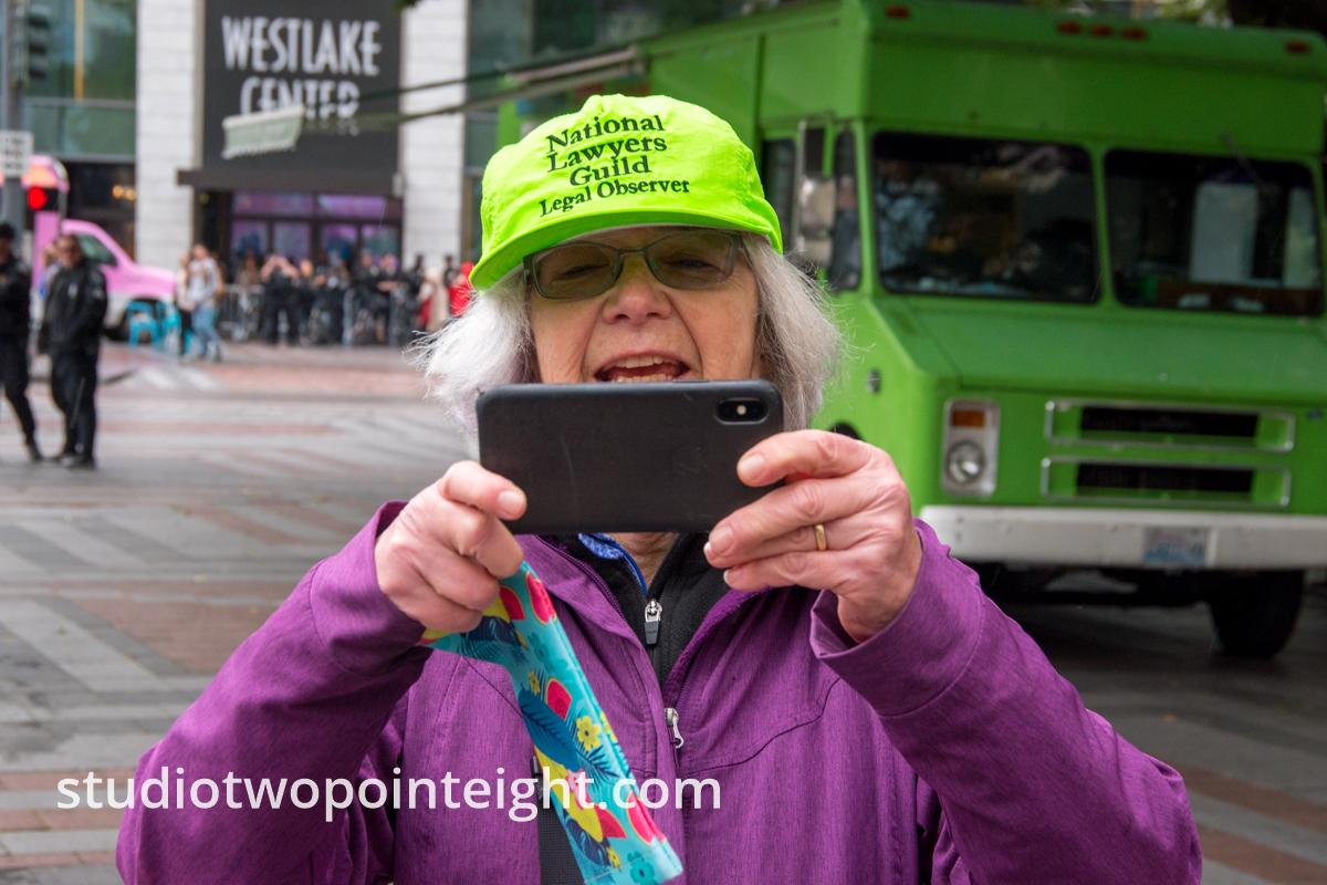 Studio 2.8, Westlake Park Seattle, September 29, 2019, A Gaggle of National Lawyer's Guild Legal Observers