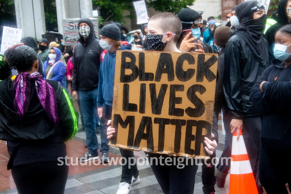 Studio 2.8, Seattle Protests, Black Lives Matter, George Floyd, May 30, 2020, Black Lives Matter Poster