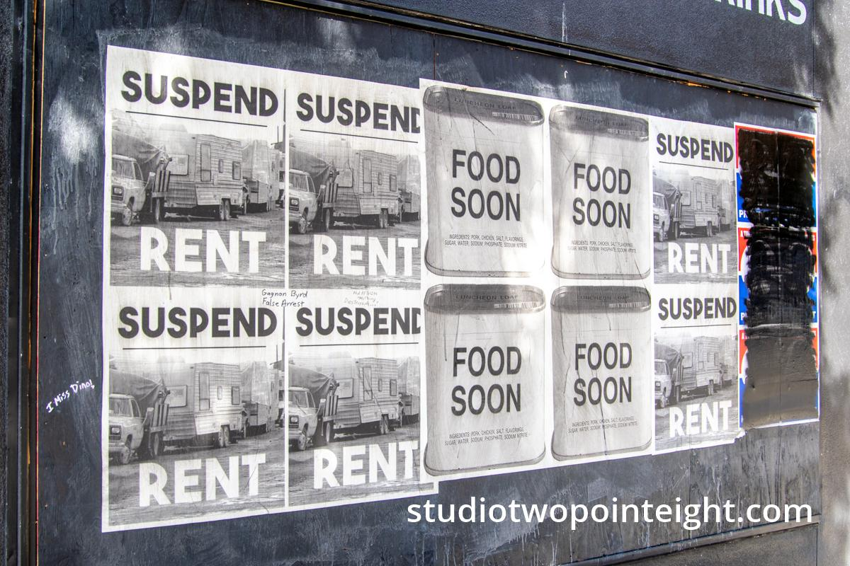 Studio 2.8 Documenting The 2020 Corona Virus Pandemic, Seattle, Jupiter Bar, Placards On Its Boarded Up Windows