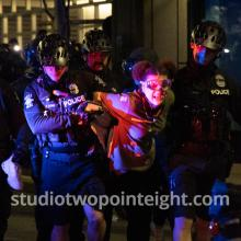 Studio 2.8, Seattle Protests, Black Lives Matter, July 2, 2020, Seattle Police West Precinct Laila Andrews Arrested