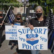Studio 2.8, July 15, 2020 Event, Back Seattle Police, Photo and Video Coverage