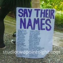 Studio 2.8, Seattle Protests, Black Lives Matter, George Floyd, May 30, 2020, Demonstrator With Say Their Names Poster