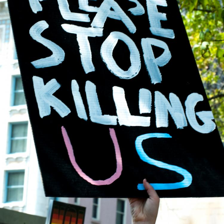 Seattle, Liberty or Death Rally, August 2018, Socialist Please Stop Killing Us Sign