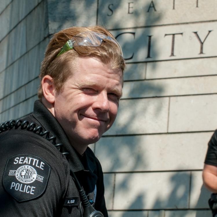 Seattle, Liberty or Death Rally, August 18, 2018, Police