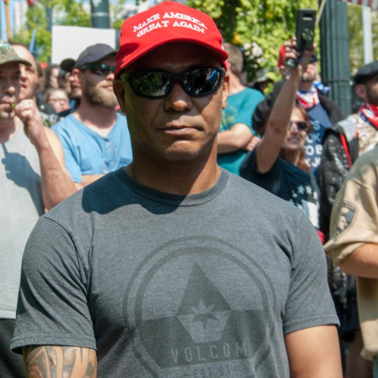 Seattle, Liberty or Death Rally, August 18, 2018, Make America Great Again Hats