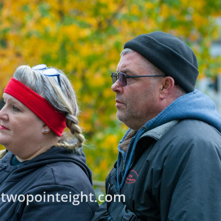 Seattle, Liberty or Death 2 Rally, December 1, 2018, A Pair of Attendees Listened to The Speeches
