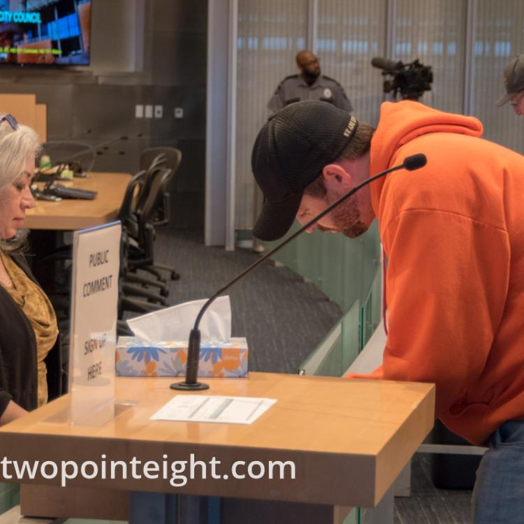Some Member of the Washington Three Percent Attended The Seattle City Council Hearing on March 18, 2019, Matt Marshall