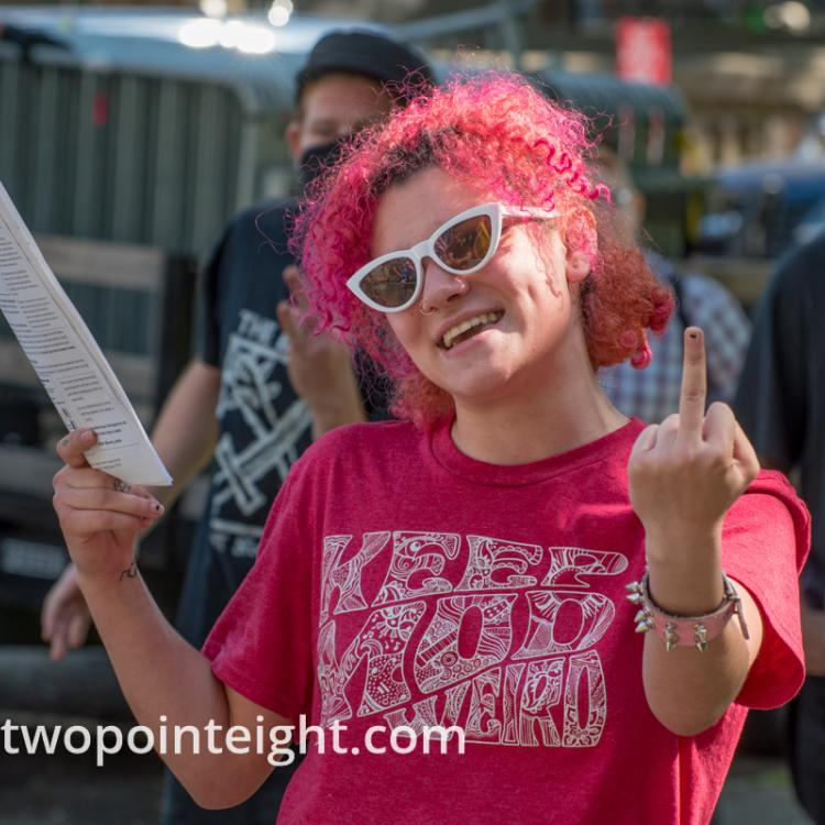 Seattle, July 14, 2019, Unite Against Political Violence, A Counter Protester Gesticulated Wildly