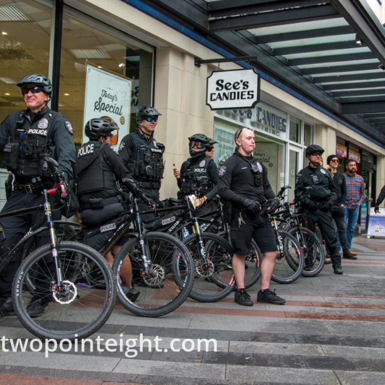 Studio 2.8, Westlake Park Seattle, September 29, 2019, Seattle Police Political Rally and March Preparation
