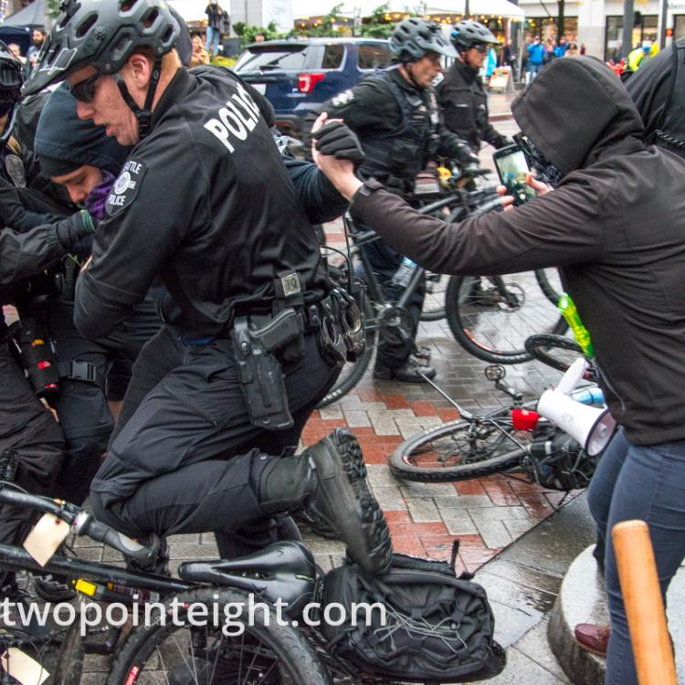 Studio 2.8, December 7, 2019, Westlake Mall Seattle, Seattle Police Arrest Violent Anarchists