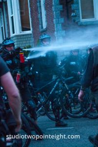 2015 Seattle May Day Protest Riot, Seattle Police Hosed Down Protesters with Pepper Spray