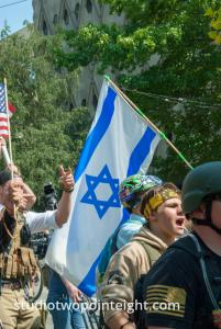 Seattle, Liberty or Death Rally, August 18, 2018, Jewish Washington Three Percent Members Carried An Israeli Flag