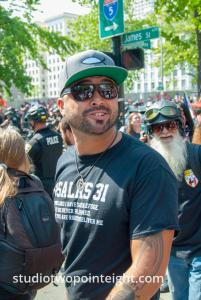 Political Activist Joey Gibson In Attendance at the Liberty or Death Rally in Seattle on 18 August 2018