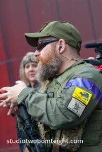 Seattle, Liberty or Death 2 Rally, December 1, 2018, Member Of The John Brown Gun Club Met With Washington Three Percent