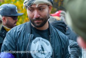 Seattle, Liberty or Death 2 Rally, December 1, 2018, A John Brown Gun Club Member Listened