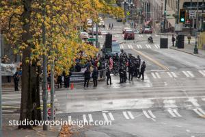 Seattle, Liberty or Death 2 Rally, December 1, 2018, Counter Protesters From A Distance