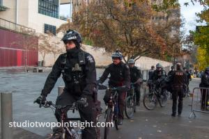 Seattle, Liberty or Death 2 Rally, December 1, 2018, Event Over, Seattle Police Packing Up and Going Home