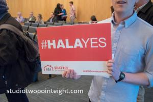 Seattle City Council, March 18, 2019, Real Estate Regulation, MHA, Mandatory Affordable Housing Ordinance, Sign and Placards
