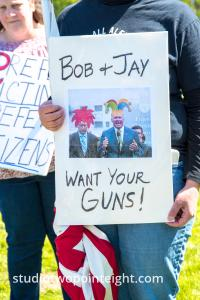 March For Our Rights 2.0, Gun Rights Rally, 2019 April 27, Close Up Of Bob And Jay Want Your Guns Poster