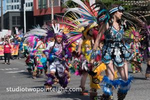 Seattle MayDay 2019 Immigration Politics Rally - Ceatl Tonalli Dancers
