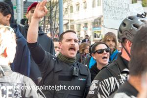Seattle May Day 2019 Immigration Politics Rally, Commotion During the Speeches At the Federal Courthouse