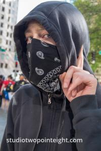 Seattle May 1, 2019 May Day Immigration Rally Masked Antifa Black Bloc Antagonist