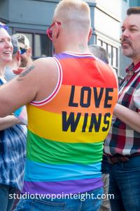 Seattle Trans Pride 2019, An Attendee Wore A Love Wins Rainbow Tank Top